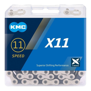 Corrente Kmc X11 Silver Prata 116l 11v Shimano Sram Mtb