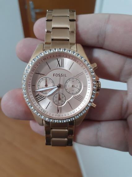 Relógio Fossil Bq1774 Rose 100% Original.