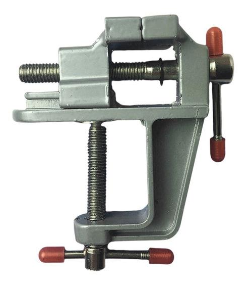 Tornillo De Banco Mini Fijo 30mm Aluminio Joyería Precisión