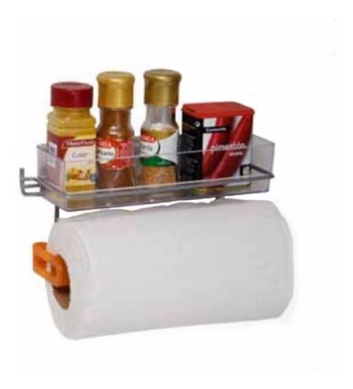 Porta Rollo Simple Y Condimentos Organizador De Cocina