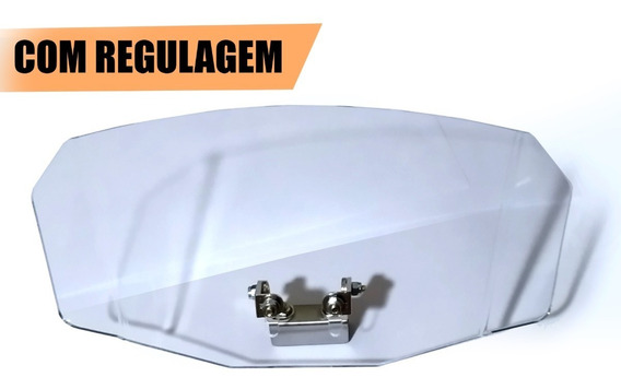 Defletor Regulável Universal Bolha Alta Moto Prolongador Ar