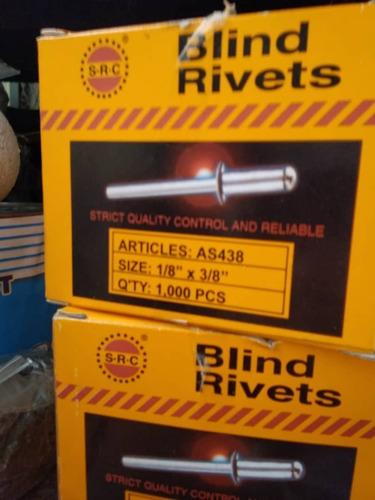 Remache Aluminio Ciego 1/8 X1/2 Bolsas De 300 Piezas