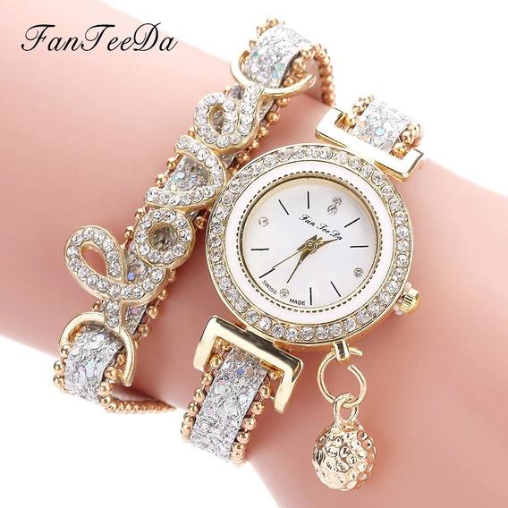 Reloj Para Dama De Diamantes De Imitación