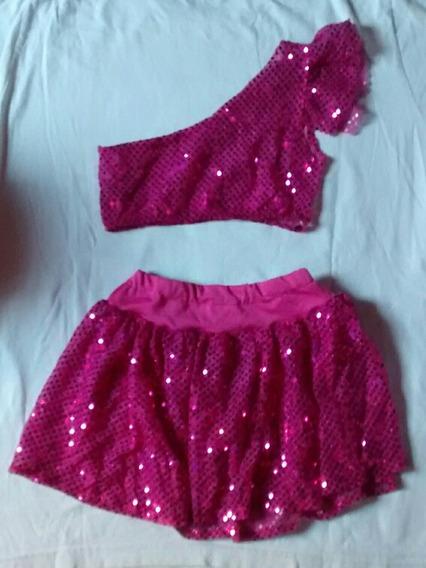 Traje De Baile/ Disfraz Niña Rosa
