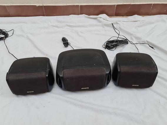 3 Caixa Surround Som Aiwa Nsx Sx R230 C400 Usadas C/ Detalhe