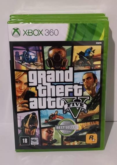 Gta V Xbox 360 Gta 5 Xbox 360 Mídia Física Lacrado Original