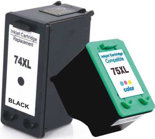 Combo Cartuchos 74 Y 75 Xl Negro Y Color Alternativos C5280