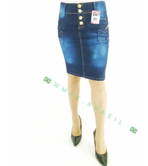 Saia Jeans C/lycra Moda Evangélica/secretaria N*38