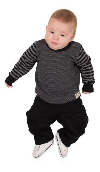 Conjunto Moletom Bebê Menino Calça E Blusa Roupa Inverno
