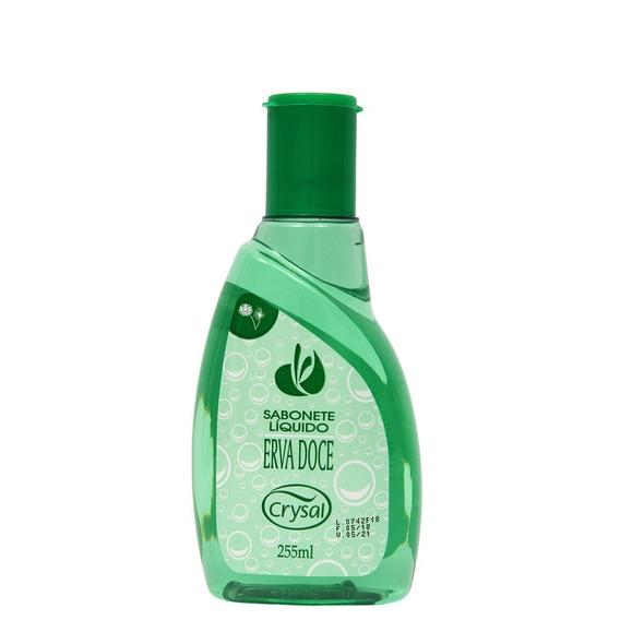 Sabonete Liquido 255 Ml Para Mãos E Corpo Erva Doce Crysal