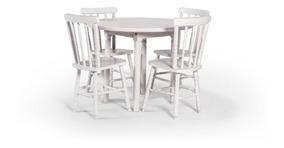 Conjunto Mônaco Tampo Redondo 100 X 100 Com 4 Cadeiras