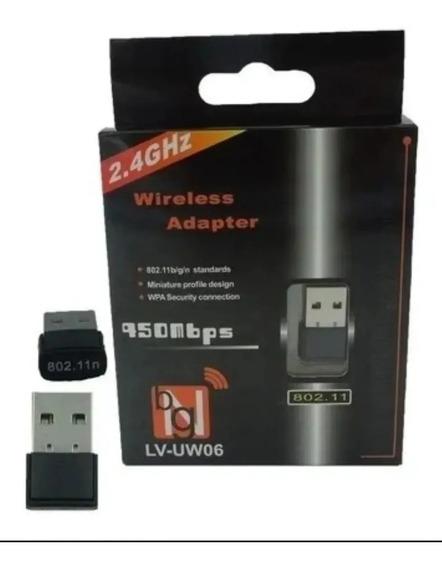 Adaptador Wireless Com Conexão Usb Para Pc Notebook 150mbps