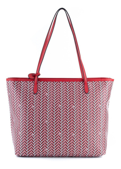 Tote Mujer Xl Extra Large Demi Rojo