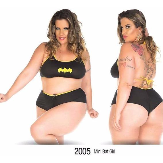 Mini Fantasia Bat Girl Plus Size Pimenta Sexy Sensual Erótic