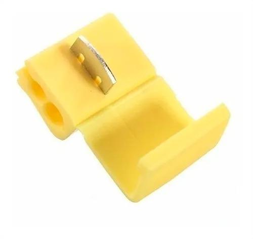 250pçs Conector Derivação Emenda Cabos Fios Amarelo 4 A 6mm