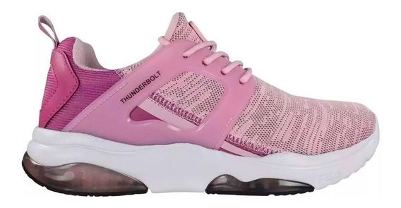 Zapatillas Fila Thunderbolt Moda Trainning Rosa Mujer
