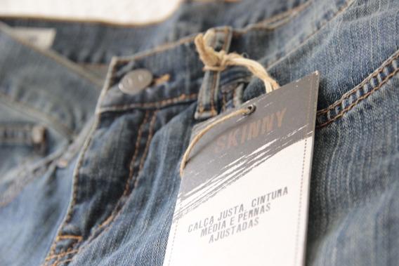 Calça Jeans 42 Skinny Cintura Média