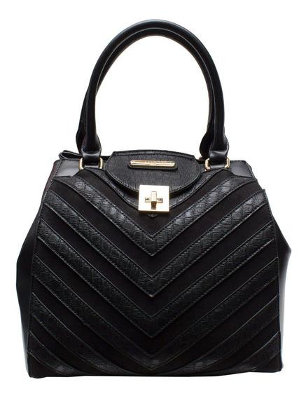 Bolsa De Mano Nicole Lee Skyla Con Broche Y Diseño Lineal