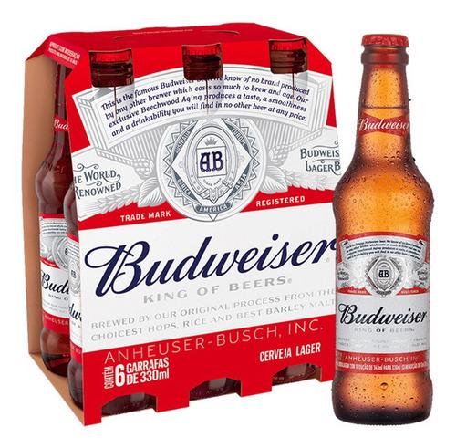 Imagem 1 de 2 de Cerveja Budweiser 330 Ml