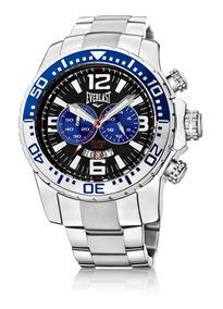 Relógio Everlast Cronógrafo Cx E Pulseira Aço Masculino