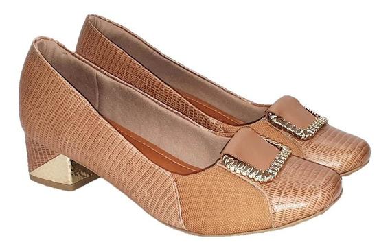 Sapato Feminino Usaflex Care Joanetes Ac1105 Bege