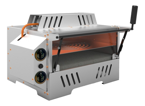 Imagem 1 de 4 de Forno Industrial À Gás 80 Litros 53x47 Porta Vidro 2 Grades