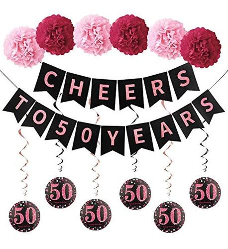 Kit De Decoración De 50 Cumpleaños Para Mujer