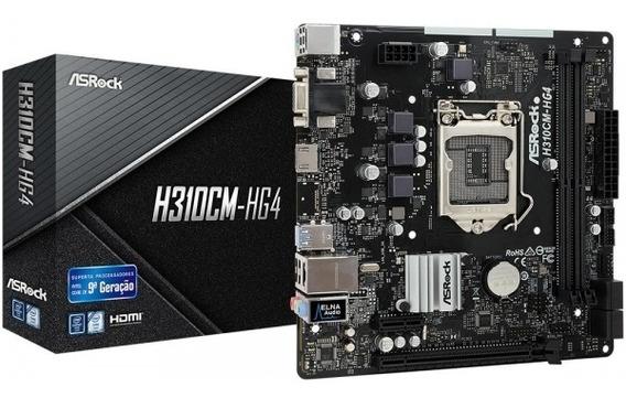 Placa-mãe H310cm-hg4, Intel Lga 1151, Matx, Ddr4 Asrock