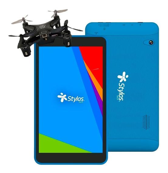 Tablet Stylos 7 Quadcore 8gb Microsd 32gb Azul + Drone