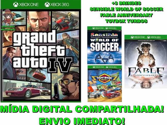 Gta Iv Grand Theft Auto 4 Xbox 360/one Mídia Digital