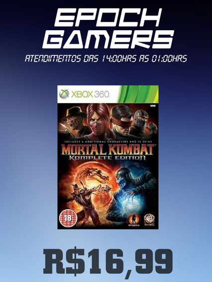 Mortal Kombat + Packs - Xbox 360 - Mídia Digital