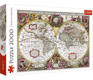 Rompecabezas Puzzle 2000 Piezas Trefl Mapa Mundo 27095