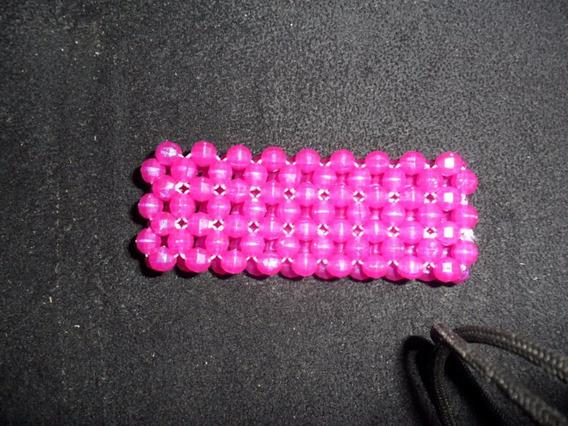 Pulseira Bracelete Em Cristal Acrílico Rosa