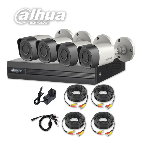Kit 4 Camaras Seguridad Dvr Dahua Full Hd Lite 4 Canales P2p