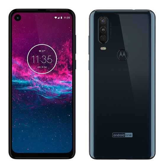 Celular Libre Motorola Moto One Action 4gb 128gb 12+5+4 Mpx Octa Core Turbo Power Ahora 12!