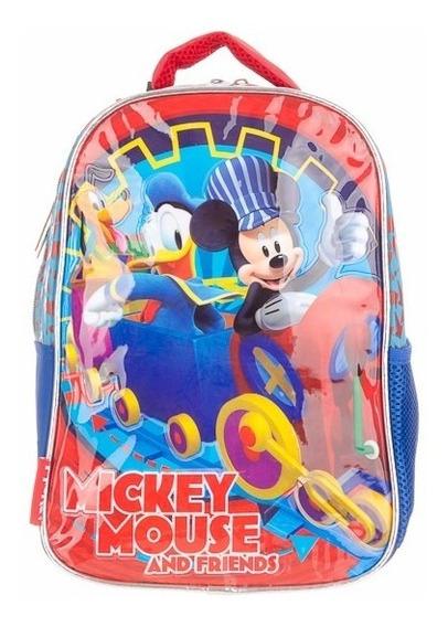 Mochila Espalda Mickey Y Amigos Jardin 12 Pulgadas Cresko