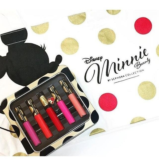 Disney Minnie - Kit Batom - Ature Cream Lip Stain Set