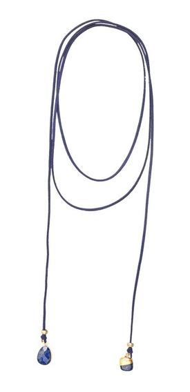 Luckyly Gargantilla Mujer Choker Azuline, Dijes Lapislázuli