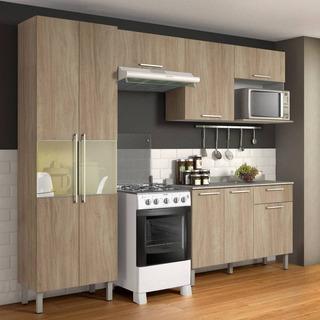 Cozinha Compacta 4 Peças Com Balcão Star Aveiro Bege - Itati