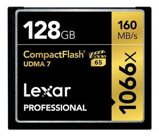 Cartão Compact Flash Lexar 128gb Professional 160mb Lacrad