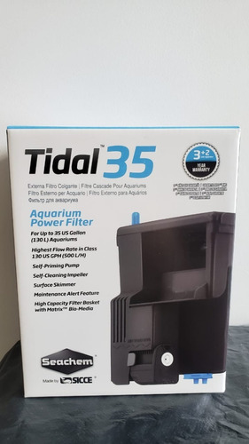 Filtro Cascada Seachem Tidal 35 Flujo 500l/h
