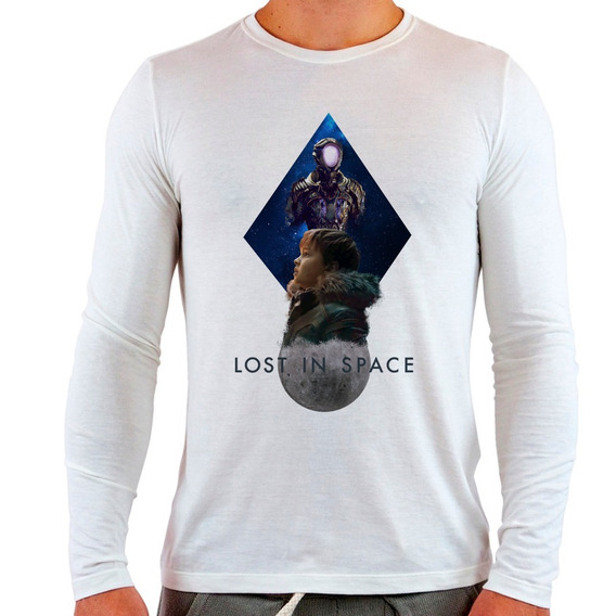 Camiseta Branca Longa Lost In Space V2