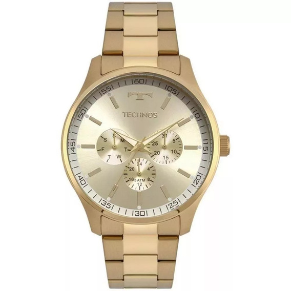 Relógio Technos Masculino Dourado Mod 6p29ajn/4x Original Nf