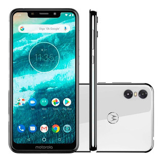 Celular Smartphone Moto One Dualsim 64gb 4gb Ram Pronta Entrega Branco