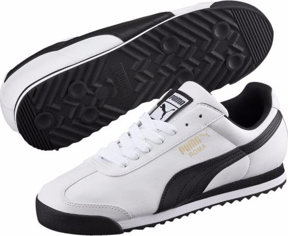 Tenis Puma Roma Basic Blanco/negro 353572 04