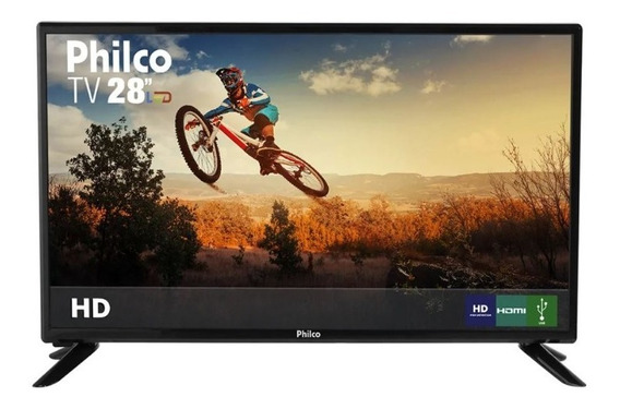 Tv Led 28 Hd Philco Ph28d27d Preta Bivolt Pix90