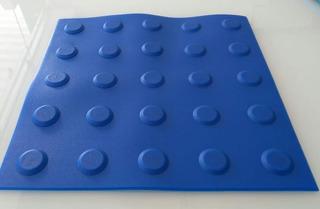 Piso Tátil Pvc Alerta / Direcional Azul 25x25cm 16 Unid M²