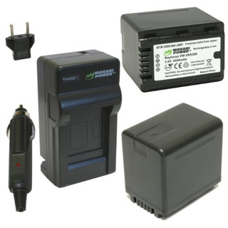 Wasabi Power Battery 2pack Y Cargador Para Panasonic Vwvbk36