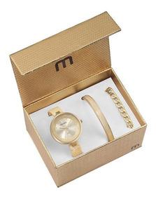 Relógio Mondaine Feminino Kit Semijóia 76611lpmkdf1k1