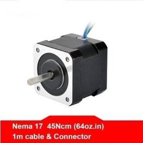 Kit 4 Motores Nema 17 4kg 17hs4401 Impressora 3 D + Suportes